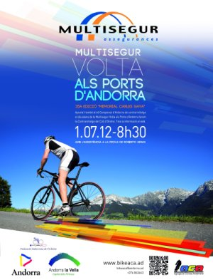 Cartell Volta als Ports d'Andorra 2012